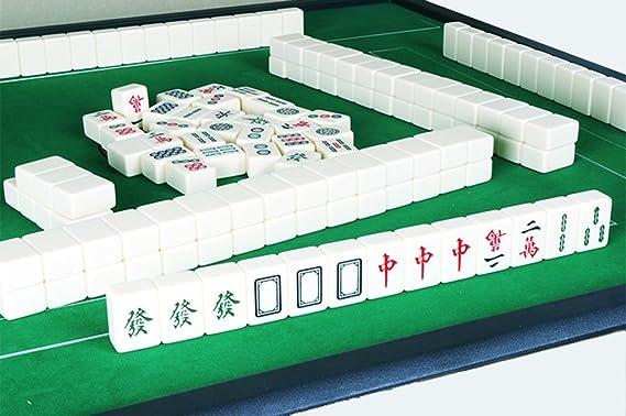 LI JING SHOP taille: 3.8 * 3.0 * 2.0CM // 4.0.03.1 * 2.1CM //4.2*3.2*2.2CM Carte Mahjong Accueil Main frottant grand Moyen nombre petit 3.8 ~ 4.2CM voyage transport jaune clair Mahjong taille : 3.8*3.0*2.0CM