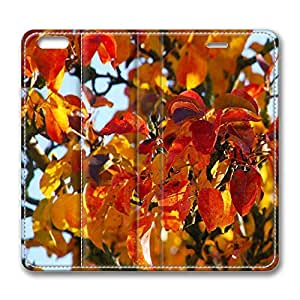 iPhone 6 Case, iPhone 6 Leather Case, Fashion Protective PU Leather Slim Flip Case [Stand Feature] Cover for New Apple iPhone 6(4.7 inch) - Autumn Leaves 8