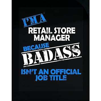Amazon.com: Retail Store Manager Job Title - Sticker: Home & Kitchen