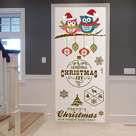 SJXWOL Cartel De La Calle De Navidad Cubierta De La Puerta ...
