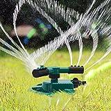 Lawn Sprinkler, Garden Sprinkler, Water Sprinkler, Premium Quality, ABS Base, Durable Rotary Three Arm Water Sprinkler