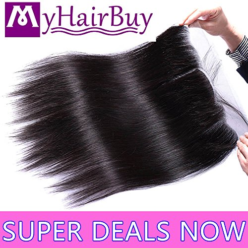 Best 13x4 Ear to Ear Lace Frontal Closure Pre Plucked With Baby Hair Real Brazilian Virgin Hair Extensions Cheap Malaysian Peruvian Human Hair Silky Straight Wholesale Price One Piece 8 Inches