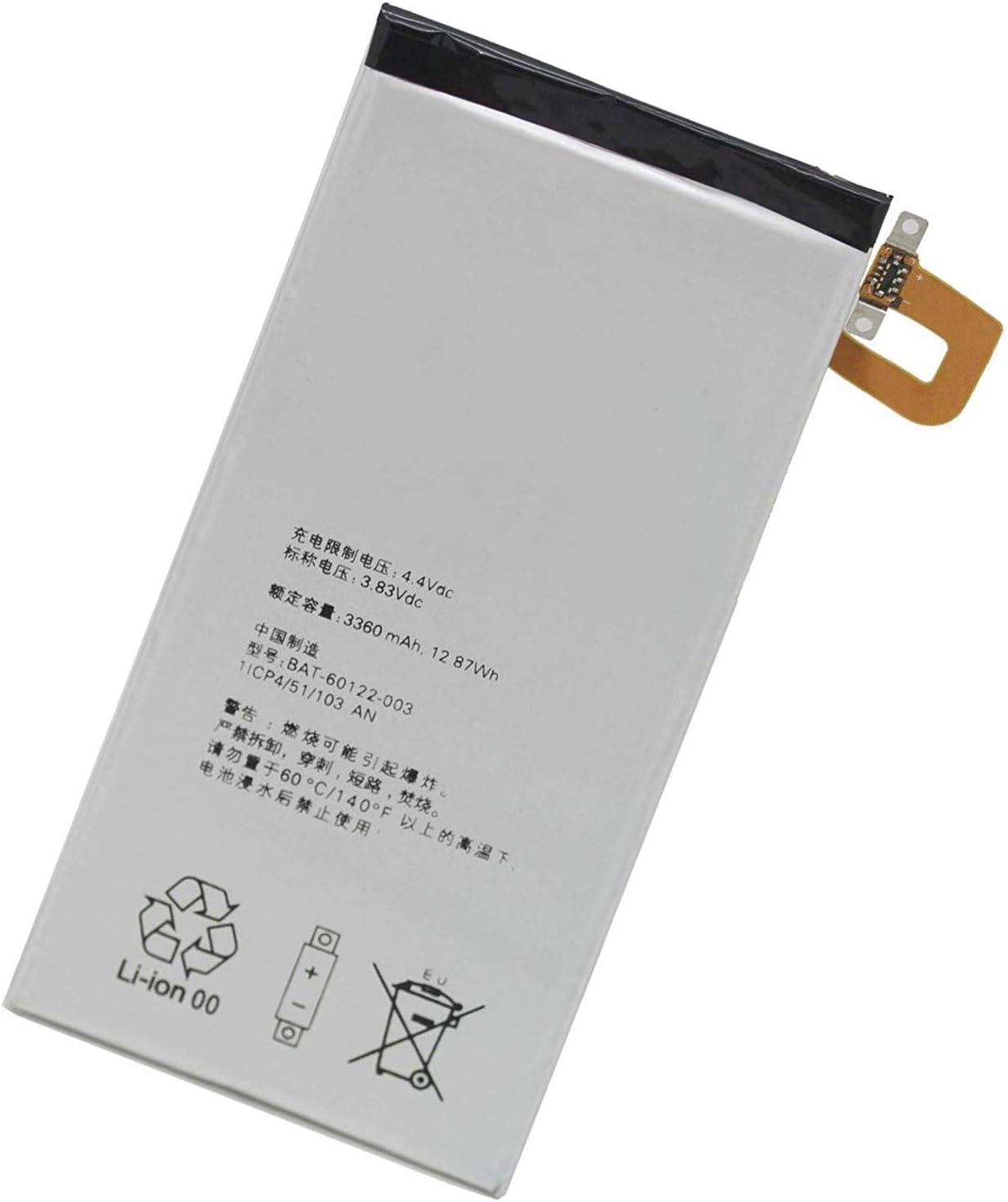 Uniamy Replacement Battery For BlackBerry PRIV STV-100 BAT-60122-003 3.83V 3360mAh