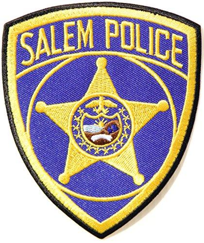 SALEM POLICE Logo Jacket T shirt Uniform Patch Iron on Embroidered Sign Badge Costume (Salem Costume)