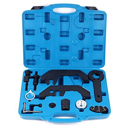 ECCPP Engine Timing Alignment Camshaft Crankshaft Timing Master Tool Kit  Flywheel Locking Tool Fit for BMW N62/N73