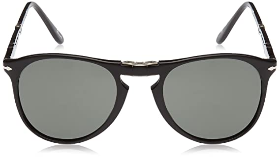 3a10f44c4e Amazon.com  Persol PO9714S - 95 31 Sunglasses Black w  Green Lens 55mm   Persol  Shoes