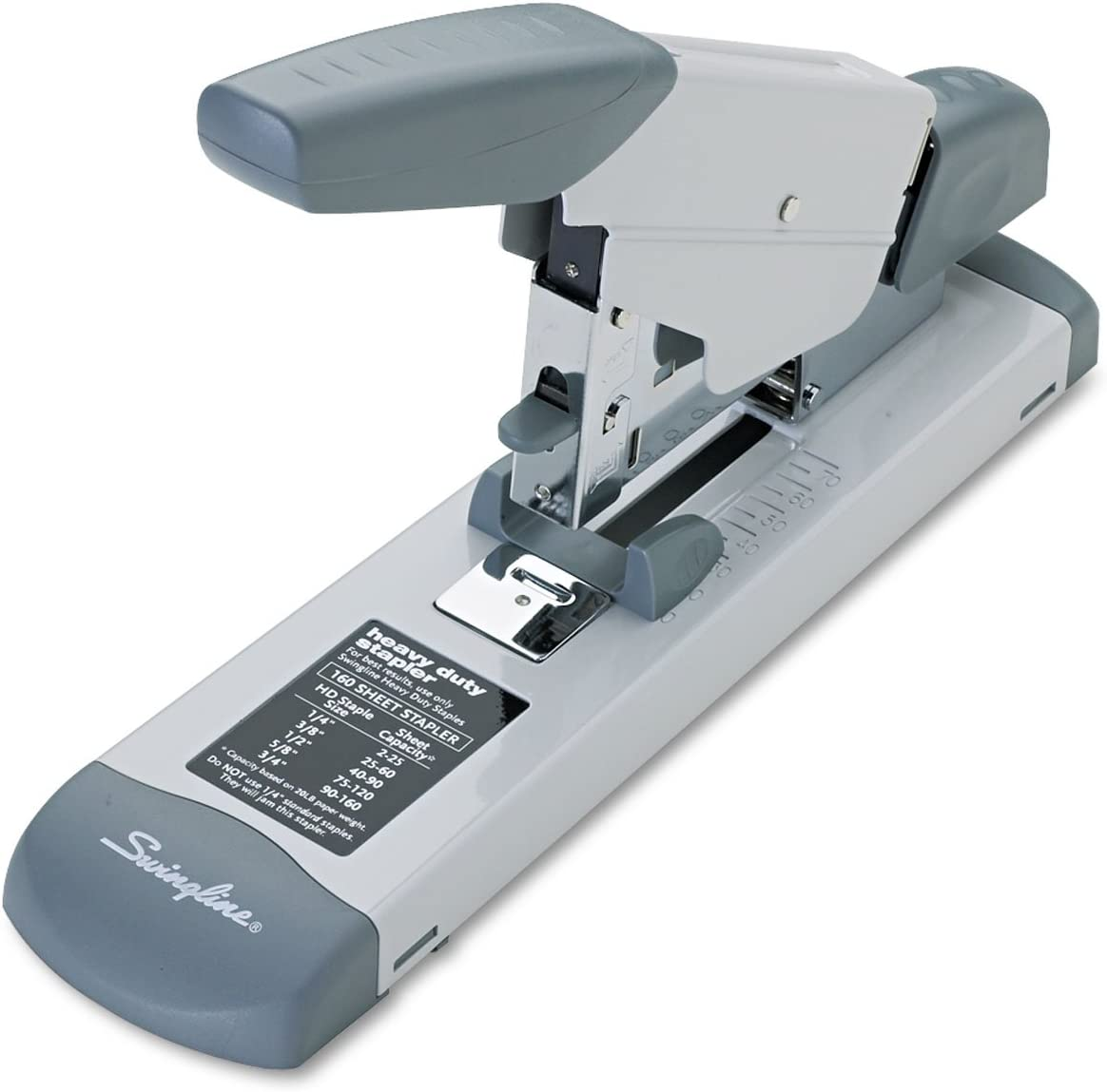 Swingline 39002 Deluxe Heavy-Duty Stapler 160-Sheet Capacity Platinum : Office Products