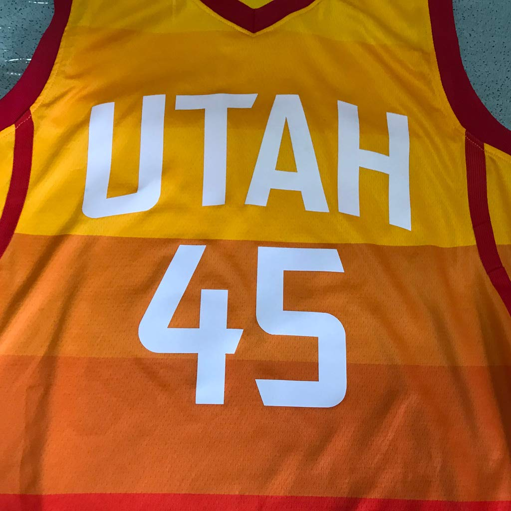 Utah Jazz Action Sports Donovan Mitchell Equipo de competici/ón de Chaleco Transpirable de Secado r/ápido de Camiseta de Baloncesto Masculino