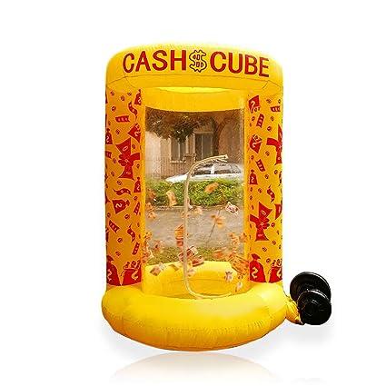 Cubo hinchable para publicidad de dinero en efectivo, herramienta ...