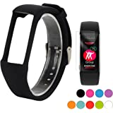 TUSITA Wristband with Screen Protector for Polar A360/A370,Replacement Adjustable Band Soft Silicone Wrist Strap Bracelet Accessories