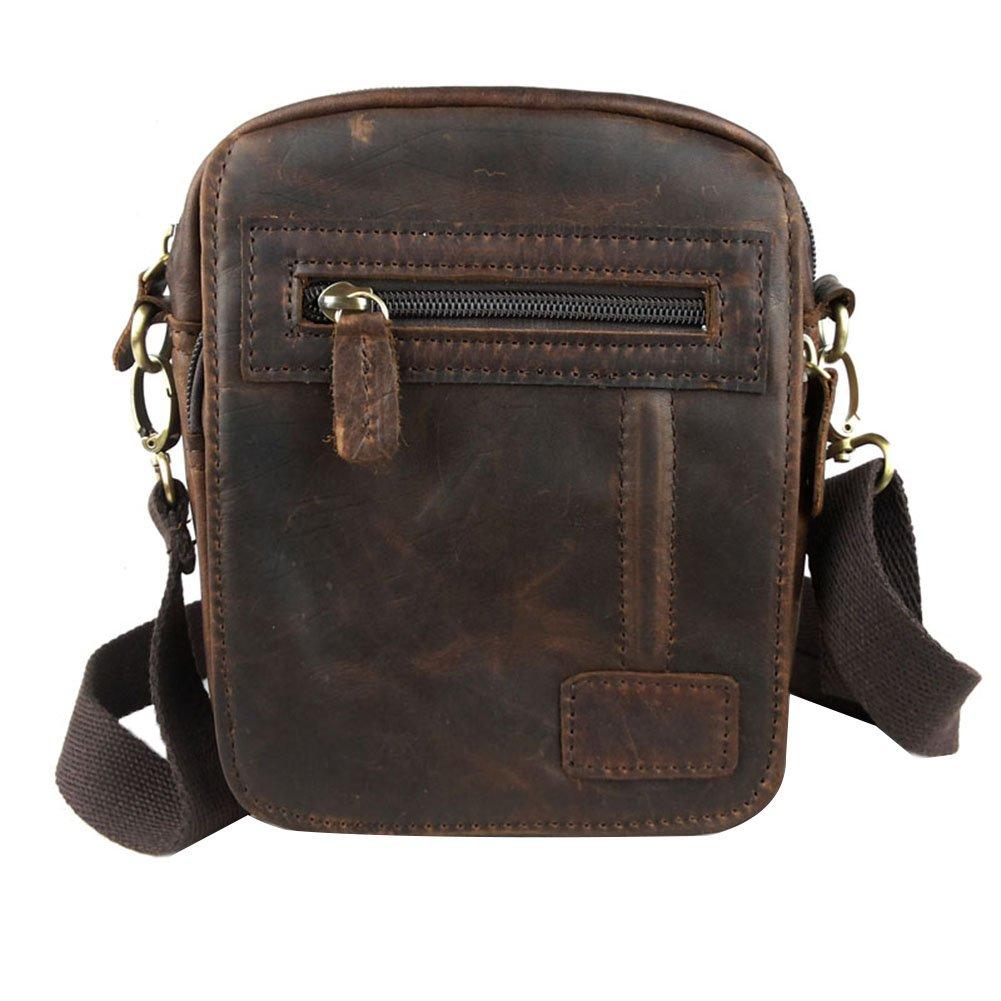 Genda 2Archer Sac de ceinture rétro cuir Messenger sac bandoulière sac de taille QB209-QKL