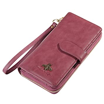 H-M-STUDIO Monedero para Mujer Monedero A Largo Plazo Monedero Integrativo Monedero Cartera De Gran