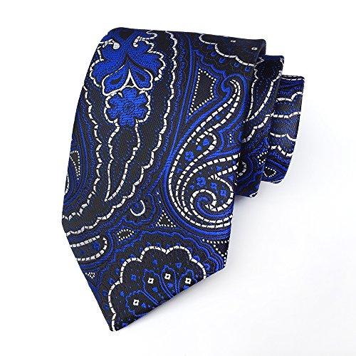 41319338e1b0 Secdtie Men's Paisley Jacquard Woven Silk Tie Luxury Formal Party Suit  Necktie