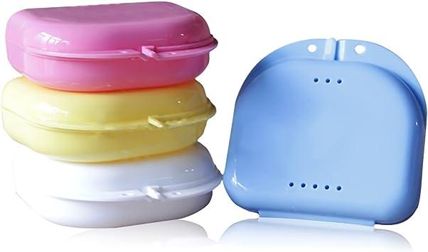 Vococal - 2 Piezas Caja de Prótesis Dental Baño / Dientes Falsos de Recipiente Lavado Cesta: Amazon.es: Salud y cuidado personal