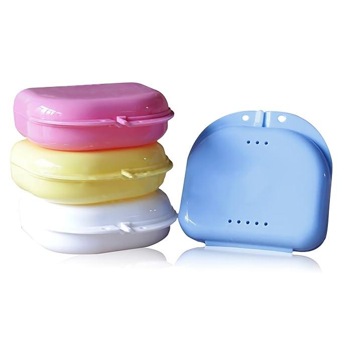 1 opinioni per 2 pz plastica protesi fermo deposito Custodia scatola denti falsi dentale