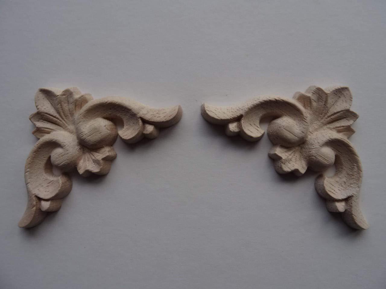 Wood applique decorative pediment architectural etsy