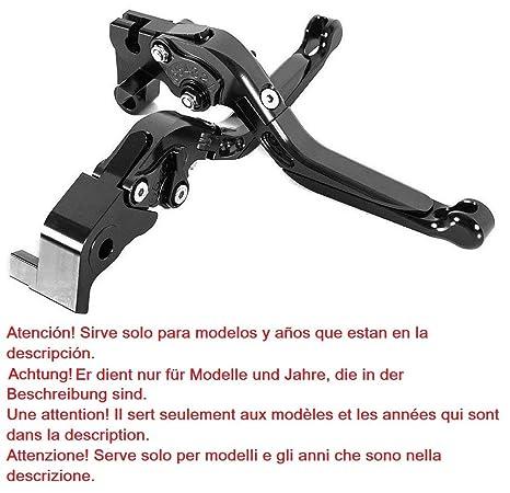 Maneta palanca plegable extensible ajustable de embrague y de freno para Yamaha YZF-R6 (