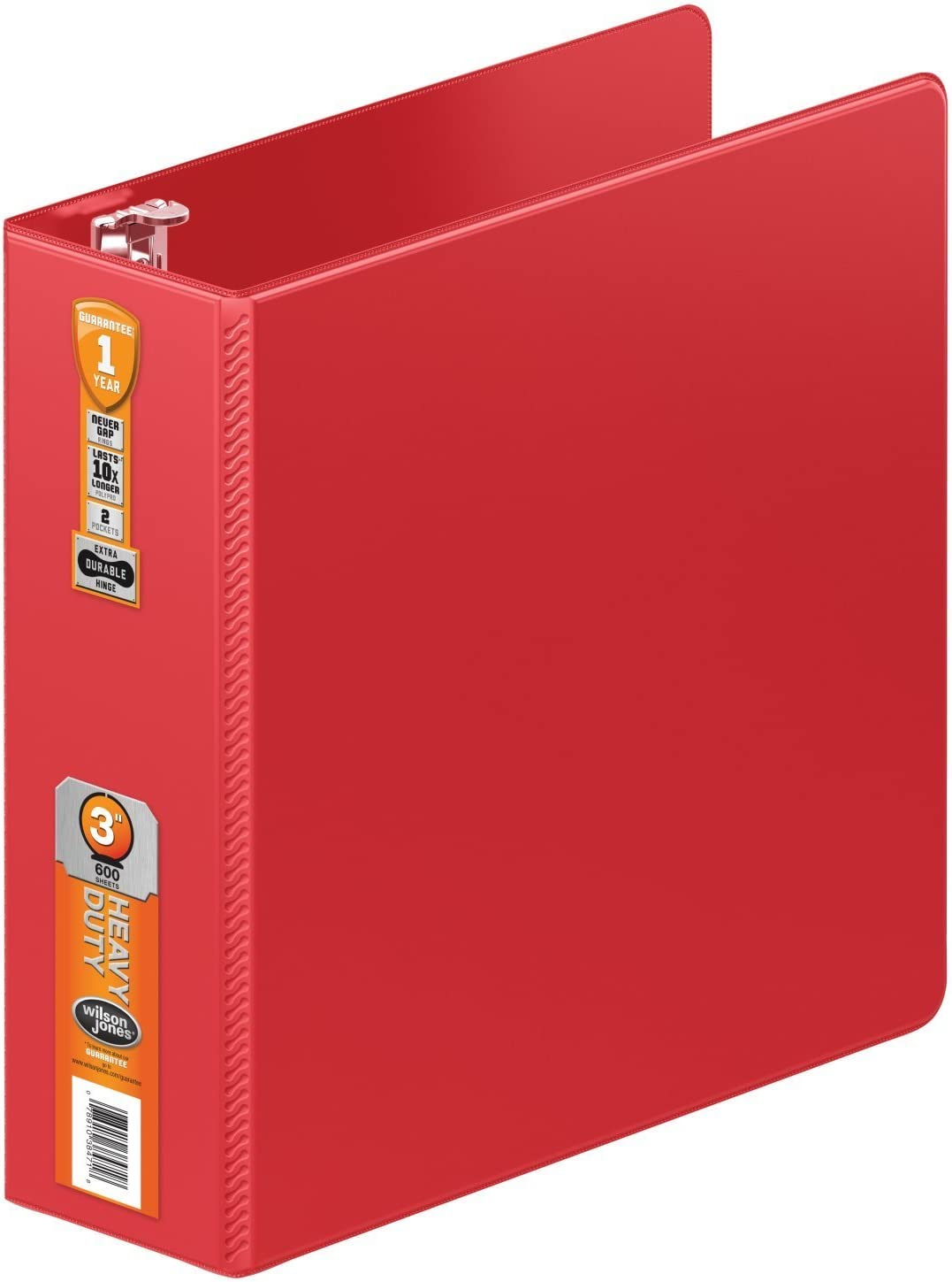 Wilson Jones Heavy Duty Round Ring Binder with Extra Durable Hinge, 3-Inch, Red (W364-49-1797) [並行輸入品]