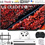 LG OLED55C9PUA 55' C9 4K HDR Smart OLED TV w/AI ThinQ (2019) w/Xbox Bundle Includes, Microsoft Xbox One S 1TB, Flat Wall Mount Kit Ultimate Bundle for 45-90 inch TVs and More