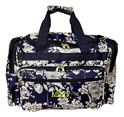19-Fashion-Multi-Pocket-Duffle-Bag-Personalization-Available-Personalized-Navy-White-Flower