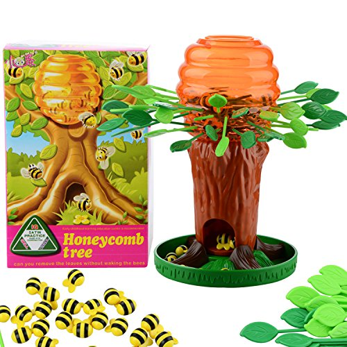 Honey Bee Bear (Alapaste Honey Bee Tree Game,Be Careful The Bees On the Tree,Fun Parent-child Interactive Intellectual Toy Games for Kids Adults,Ages 3 and Up)