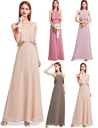 afded17b268 Ever-Pretty Floor Length Flowy Chiffon Bridesmaid Dress 07131 at ...