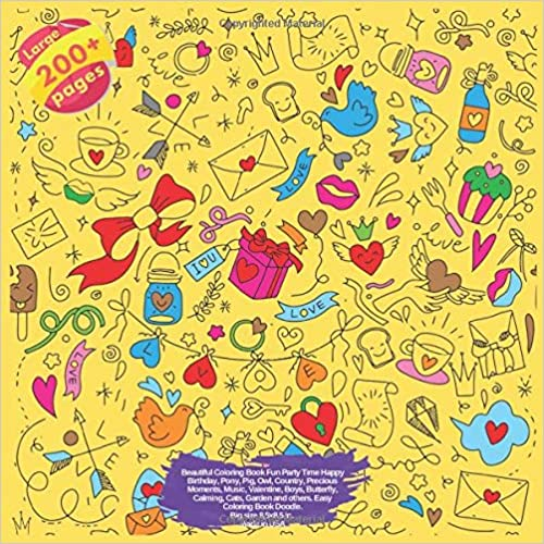Amazon com: Beautiful Coloring Book Fun Party Time Happy