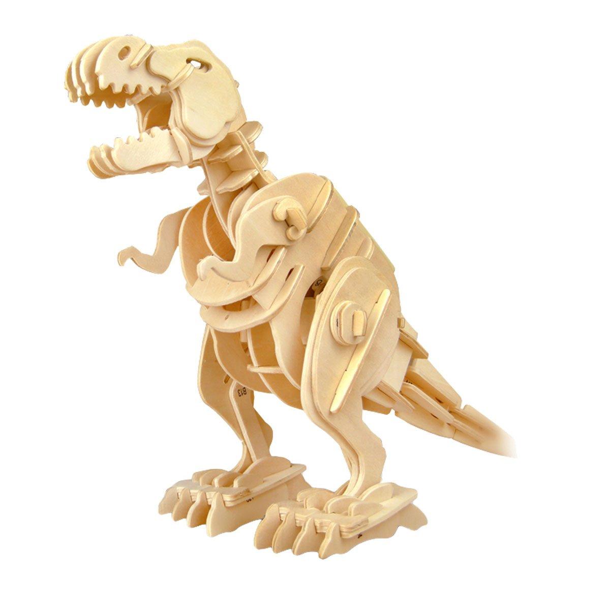DINOROID T-Rex Walking & Roaring Wooden Dinosaur