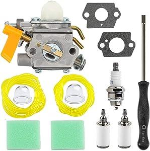 HPENP 308054043 Carburetor with Carb Tool air Filter for Homelite Ryobi RY09800 RY28021 RY28041 RY28065 UT32601 UT32601A UT32605 UT32651 UT32651A UT32655 26cc Strting Trimmer Brushcutter