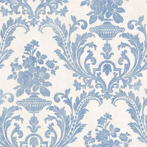 Norwall SD36153 Sari with Texture Prepasted Wallpaper Beige, Blue ()
