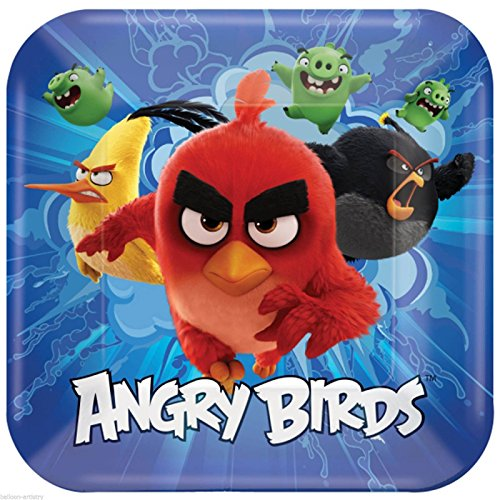 Angry Birds Movie 23Cm Party Plates Pack Of 8 ()