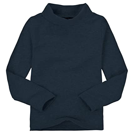 Zantec Camiseta Unisex de Cuello Alto para niños Camiseta de algodón de Manga  Larga para niños 1559fb26841