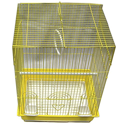 Iconic Pet Flat Top Bird Cage, Small, Yellow