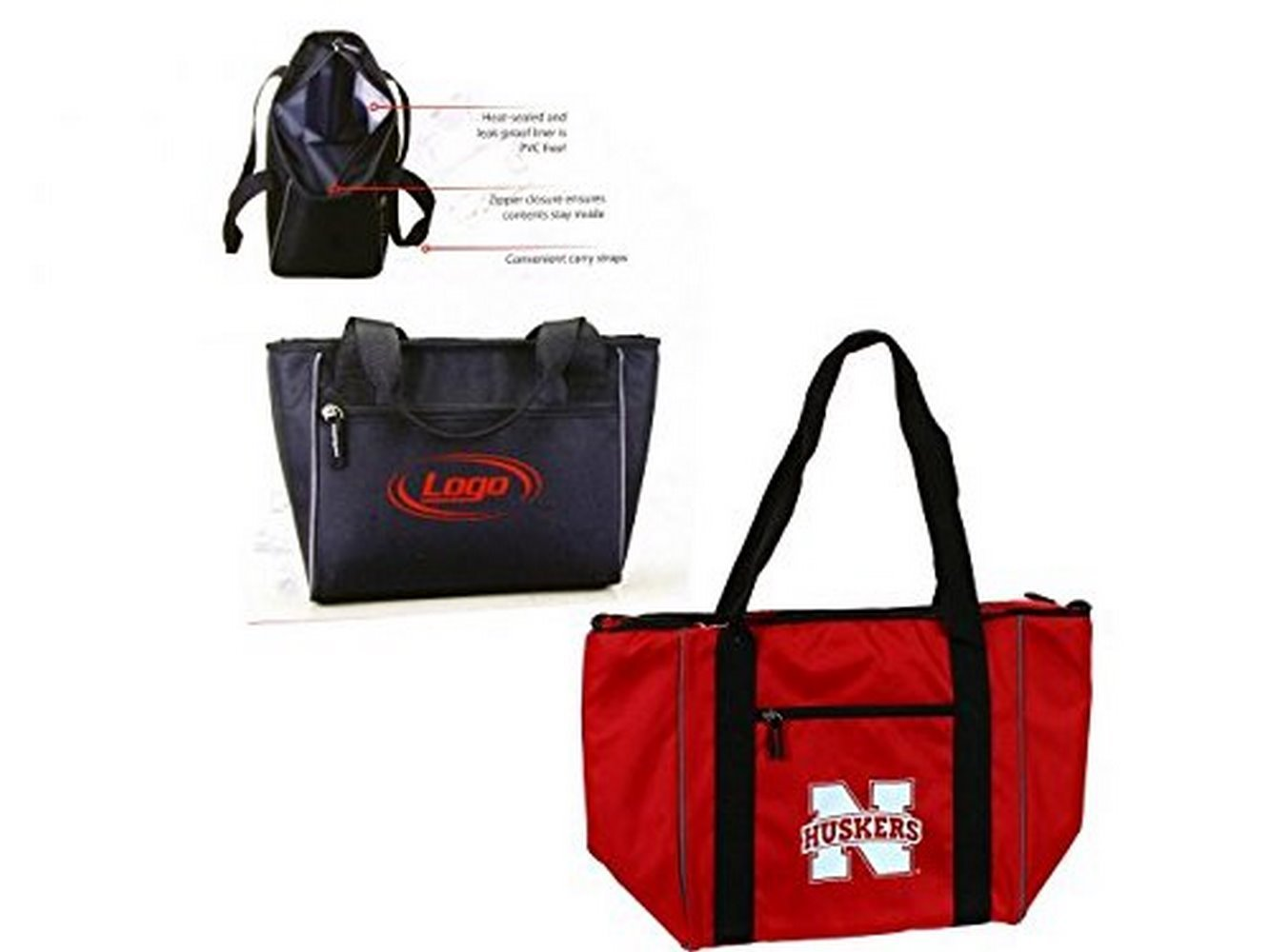 NCAA Nebraska Cornhuskers Licensed 30 Can Tote Bag Cooler