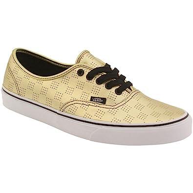 hot sale online dc4d4 796f0 Vans Men s Authentic 50th Skate Shoe Gold Checker 9 B(M) US Women