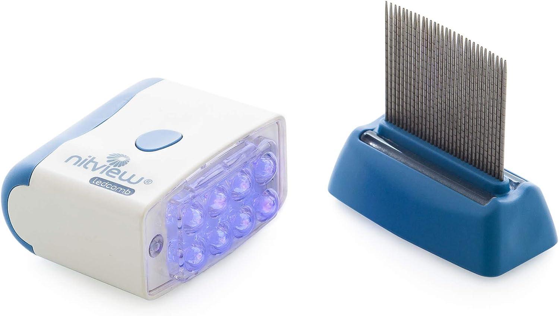 Nitview Ledcomb - Detector de piojos y peine: Amazon.es: Salud y cuidado personal