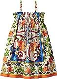 Dolce & Gabbana Kids Baby Girl's Sleeveless Dress (Toddler/Little Kids) Maiolica Print 5