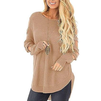 181db531d5 Oudan Pullover Sweater Felpa da Donna, Blusa da Donna Autunno ...