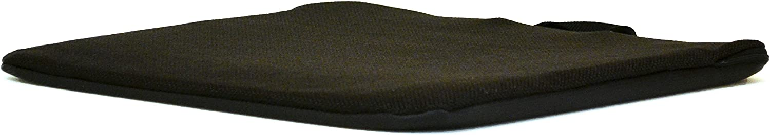 Mc Cartys Sacro-Ease Bottom Cushion Seat Support Coccyx Tailbone Cutout and Extra Padding 15-Inch Wide Black