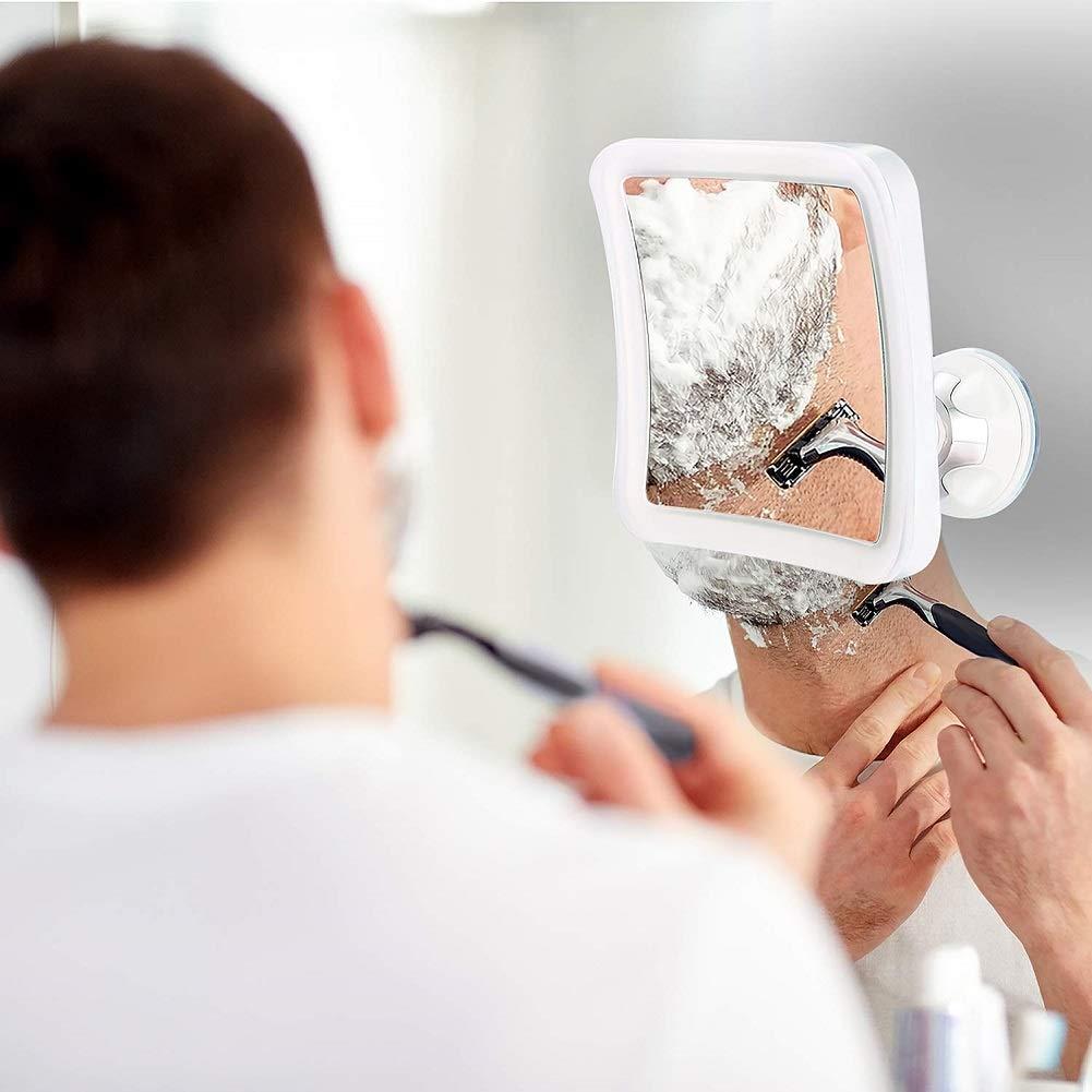 Miroir de Maquillage Miroir Grossissant x 7 LED Miroir Cosm/étique avec /Éclairage LED Pivot /à 360/° Ventouse Solide Miroir de Rasage de ELFINA