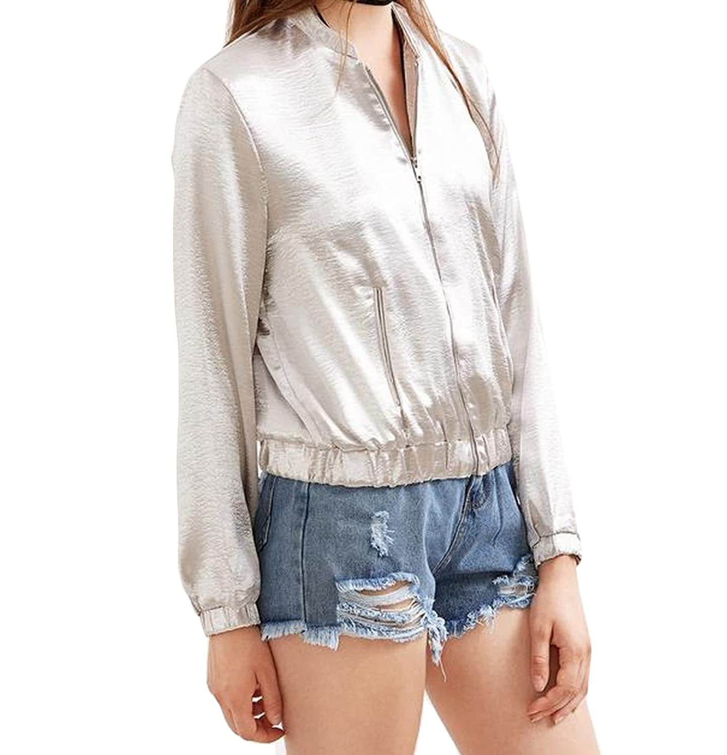 Comfy Women's Stylish Spring Slim Fit Zipper Classic Long-Sleeved Solid Work Wear