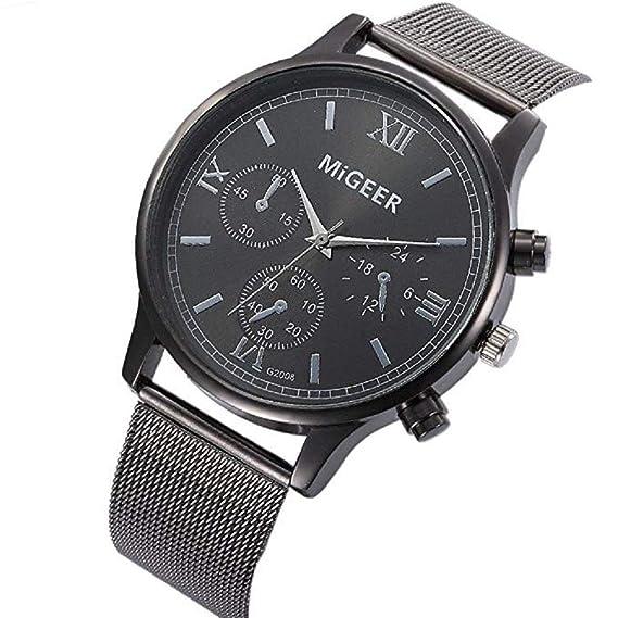 Scpink Mujeres Relojes de Cuarzo Liquidación Relojes analógicos para Mujer Relojes de Acero Inoxidable Relojes Femeninos (Negro): Amazon.es: Relojes