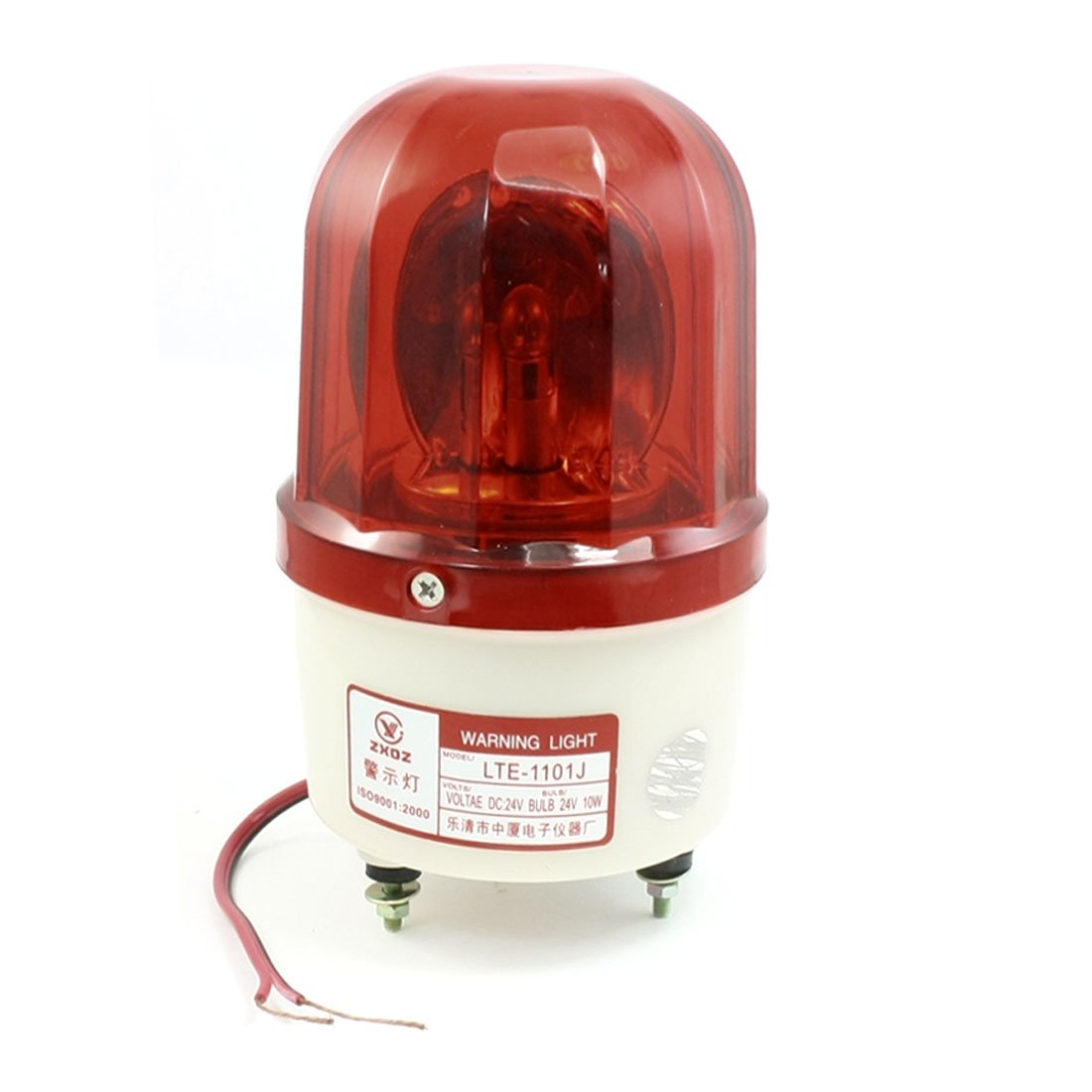 uxcell DC 24V 10W Red Rotating Flashing Light Industrial Signal Warning Lamp