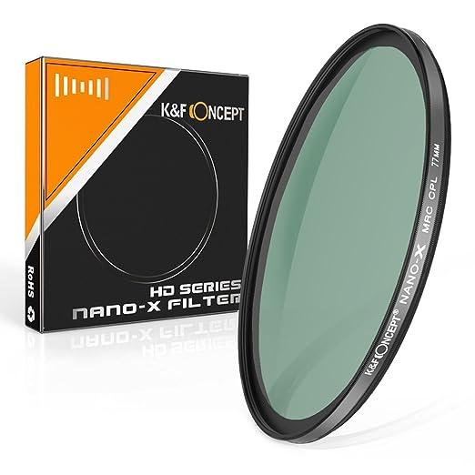 1 opinioni per K&F Concept 77mm CPL Filtro di protezione,Polarizzati Polarizzazione Circolare