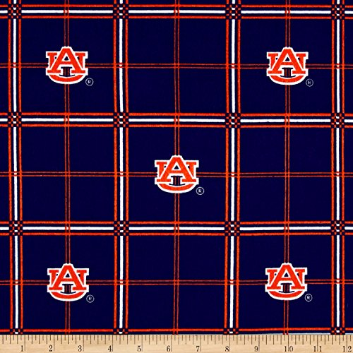 (Sykel Enterprises NCAA Auburn University Tigers Flannel Plaid Fabric by The Yard)
