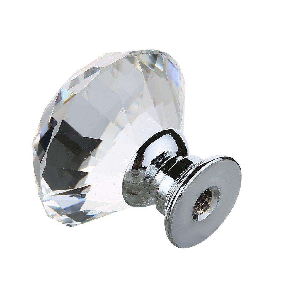 16 pcs Pomelli in vetro cristallo per ante di armadio per ...