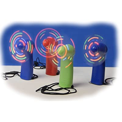 WeGlow International Light Up Fan (4 pack, colors may vary): Toys & Games