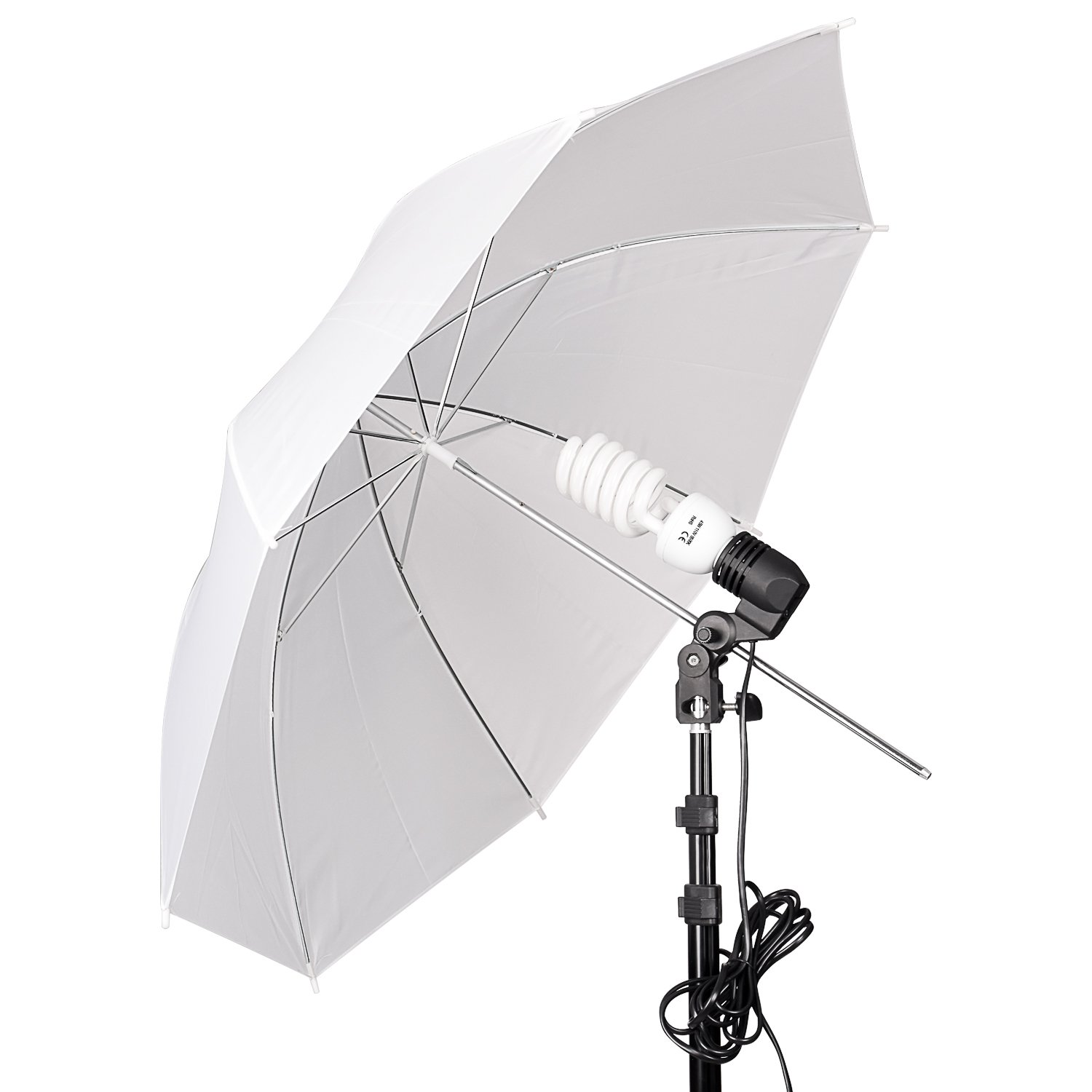 Emart Umbrella Lighting Kit for Photography Studio, 200W 5500K Photo Light Reflector for Video Lighting, Continuous Lighting, Camera Portrait Shooting Daylight by EMART