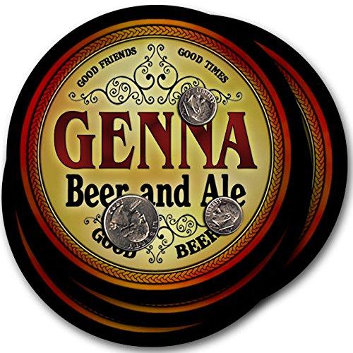 Gennaビール& Ale – 4パックドリンクコースター   B003QXSOTC