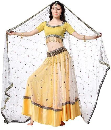 Huaishu Nuevo Indio Sari Traje de Mujer India Rendimiento ...